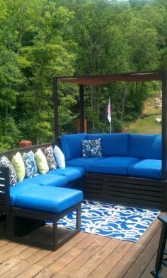 outdoor daybed combined with sectional | Do It Yourself Home Projects from Ana White