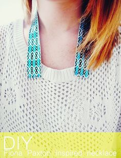 Fall For DIY fabric and Chain Necklace