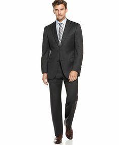 BOSS by Hugo Boss Suit, Pasolini Grey Solid - Suits & Suit Separates - Men - Macy's
