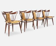 """Edmund J. Spence """"Continental-American Collection"""" Dining Chairs for Industria Mueblera"""