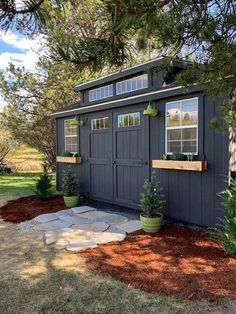 Shed Office, Backyard Office, Outdoor Office, Outdoor Lounge, Backyard Storage, Backyard Sheds, Outdoor Sheds, Backyard House, Backyard Studio