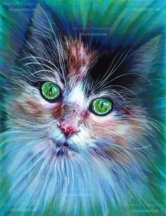 Calico Cat done in colored pencils and watercolor pencils - Patchwork of love by XRlS.deviantart.com on @DeviantArt