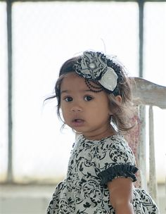 Persnickety Baby Penny Lane Raven Headband in Black Fall 2015 Delivery 1