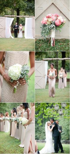 love the nude, sparkly, long dresses.