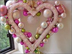 xmas wreath heart pink back | Flickr - Photo Sharing!