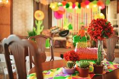 Sofia's Mexican Fiesta Themed Party – Table Setup