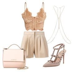 """""""Rosé Beauty"""" by ruama-haine on Polyvore featuring moda, Boutique Moschino, Miss Selfridge, Valentino e Givenchy"""