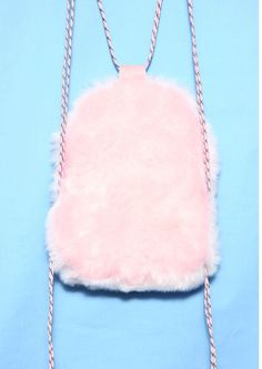 BABY PINK FUR BACKPACK - product images 2 of 3