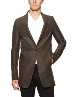 Solid Cotton Blazer by Rick Owens at Gilt
