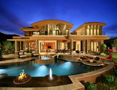 The most amazing luxury homes ever: brilliant architecture and brilliant interior design project Mansion Homes, Dream Mansion, Luxury Homes Dream Houses, Dream Homes, Modern Mansion, Big Houses, Modern Houses, House Goals, Palaces