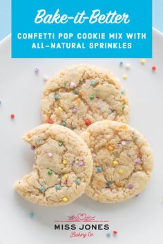 Miss Jones Confetti Pop Cookie Mix made w/ organic ingredients and no artificial colors