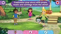 Dora and Friends - a nice iOS app for creating digital stories w/ Dora