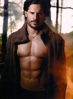 I don't watch True Blood. At all. But Joe Manganiello borders on too hot, if that's even possible. His body is ridiculously perfect.