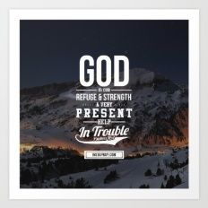 Art Print featuring God Is Your Refuge by Bible Art