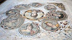 Mosaicos de Zeugma . Personagens da mitologia grega decoravam pisos das casas luxuosas(Foto: Zeugma Archaeology Project/Divulgação)