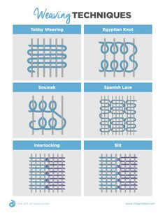 weaving techniques handout                                                                                                                                                                                 More