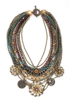 Miriam Haskell Cascading Statement Necklace
