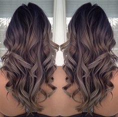 black+to+ashy+brown+ombre