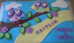 You're a hoot owl cake By rebeckymcc on CakeCentral.com