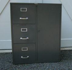 Elegant File Cabinet with Built In Safe