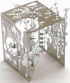 ₪ Paper Art Potpourri ₪  Mikromart fold-up paper garden sculpture