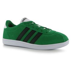 Adidas VL CourtSuede Mens Shoes Trainers Sneakers Sports Footwear Green/Blk/Wht #adidas