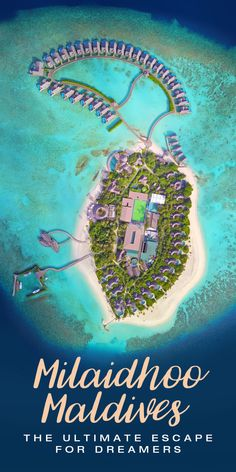 Milaidhoo Islandin the is a place for dreamers. The boutique resort impresses with spectacular villas, surrounded by lush nature, turquoise lagoons and endless horizons. Drone shot by Mar Pages Affordable Beach Vacations, Beach Vacation Tips, Vacation Pictures, Beach Trip, Vacation Ideas, Visit Maldives, Maldives Travel, Maldives Beach, Maldives Trip