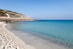 Cala Torta (Majorca) is not officially a nudist beach, so wear as much or as little as you like. Best Beaches In Majorca, Mallorca Beaches, Palm Tree Island, Costa, Spanish Islands, Balearic Islands, Spain Travel, Beautiful Beaches, Places To See