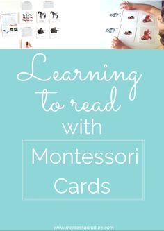 Learning To Read With Montessori Cards. | Language Activities for preschooler | hands - on learning activities | Educational Activities | Children Learn To Read Montessori Way