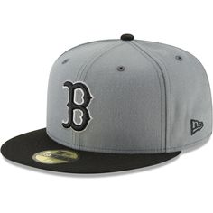 e9d412a198cf5 Men s Boston Red Sox New Era Gray Black Two-Tone 59FIFTY Fitted Hat