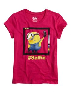 Minion Selfie Graphic Tee | Girls Graphic Tees Clothes | Shop Justice