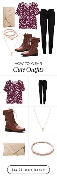 """""""Cute fall outfit w/ rose gold accessories"""" by emilyj-mu on Polyvore"""