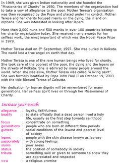 Grade 6 Reading Lesson 11 Biographies - Mother Teresa (2 ...