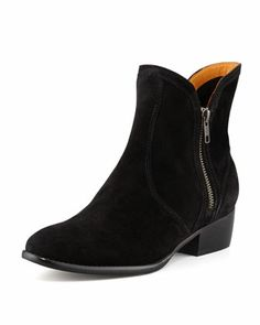Lucky+Penny+Suede+Bootie,+Black+at+CUSP.