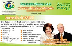 Jueves 4 de septiembre: Jornada de Salud de la Fundación Ganfer en la San Rafael. De oportunidad.