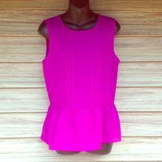 NWT Forever 21 top Sheer material. Perfect condition. Neon purple. Forever 21 Tops