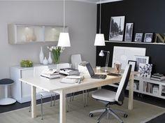 Decoración de Oficinas Modernas - Espacio de Trabajo Cómodo : Casas Decoracion