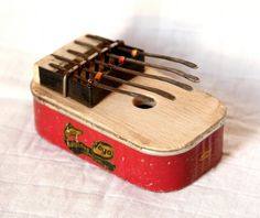 (http://www.spanishdoor.com/recycled-tin-can-hand-crafted-african-kalimba-thumb-piano-new/) #KalimbaThumbPiano #RecycledTinCan