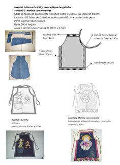 Molda Avental Jeans Reciclado