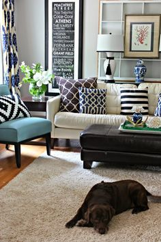 It All Started with a Pillow - A New Look for the Living Room - Southern State…