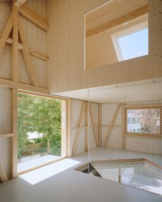 Contemporary Architecture, Architecture Design, Square Floor Plans, Wooden Facade, Architectural Section, Timber House, Construction, Built In Storage, Large Windows