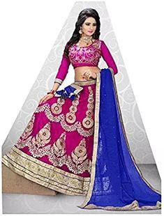 41f169b9e4 Bridal lehenga choli · eWaydeal Multicoloured Chiffon Sharara Unstitched  Lehenga