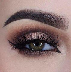 Smoky eye brown, make-up des yeux, ombres à paupières irisées