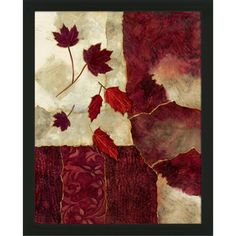 Artist: Norm Olson Title: Cranberry Fall II Product type: Framed art Style: Matching set Format: Vertical Size: Medium Subject: Floral Image dimensions: 28 inches high x 22 inches wide Outside dimensi