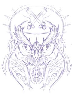 066 - Sketches by Joshua M. Smith, via Behance Owl Tattoo Drawings, Doodle Tattoo, Animal Drawings, Art Drawings, Owl Tattoos, Tribal Animal Tattoos, Buho Tattoo, Owl Sketch, Graffiti Tattoo