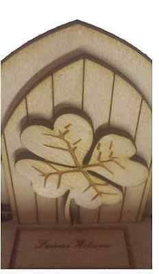 Opening Fairy Door Wooden engraved Fairy Four Leaf Clover Fairies Welcome Mat Opening Fairy Doors, Elf Door, Four Leaf Clover, Welcome Mats, Fairies, Pixie, Collection, Faeries, Fairy
