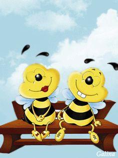 Bee Rocks, Bee Pictures, Smiley Emoji, Birthday Wishes Cards, Snoopy Love, Cute Gif, Cartoon Drawings, Painted Rocks, Anime