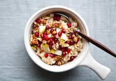 Pomegranate walnut oatmeal