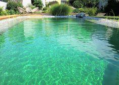 Rein in den eigenen Naturpool Natural Swimming Ponds, Swimming Pools, Flora Und Fauna, Water Features, Backyard Landscaping, Landscape Design, Nature, Outdoor Decor, Gardens
