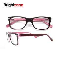 95f05b6e2491 FREE SHIPPING 2017 Brown Shade Spectacle Frame Brand Women Blue Striped  Temple Red Acetate Spring Hinge Frame Optical B041214-in Eyewear Frames  from Women's ...